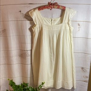 J Crew; white cotton baby doll style sundress  M
